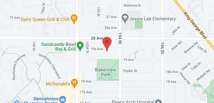 map of 208 15340 19A AVENUE
