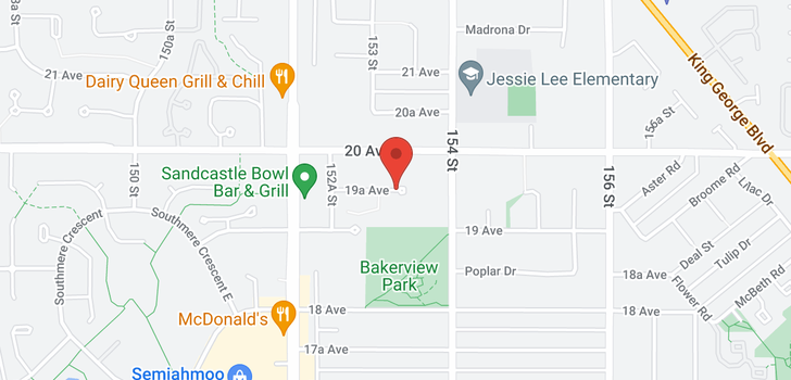 map of 208 15350 19A AVENUE
