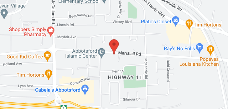 map of 1 33860 MARSHALL ROAD