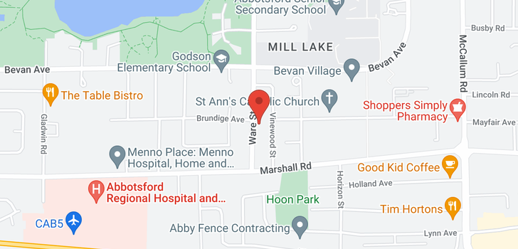 map of 2090 WARE STREET