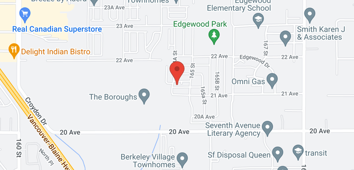 map of 2238 164A STREET