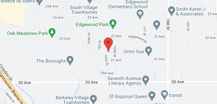 map of 2082 165A STREET