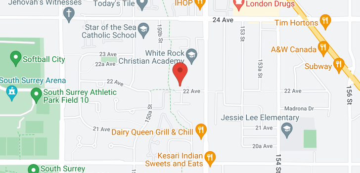 map of 209 15155 22 AVENUE
