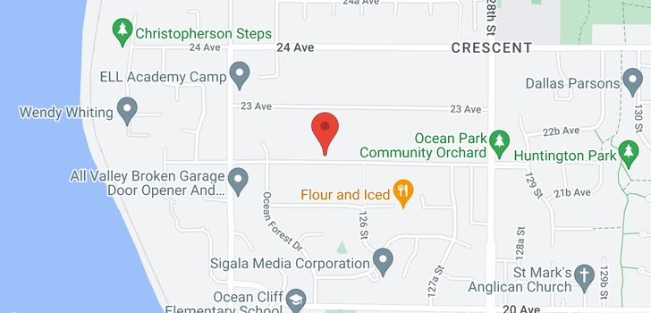 map of 12551 22 AVENUE