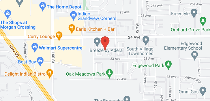 map of 17 16260 23A AVENUE