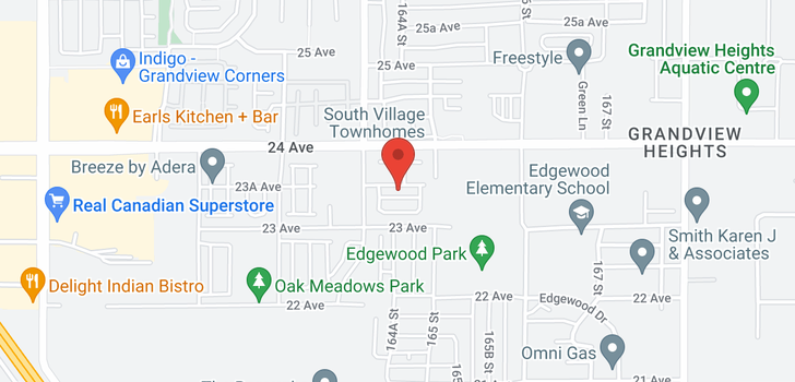 map of 35 16458 23A AVENUE