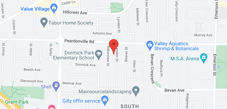 map of 2353-2355 LYNDEN STREET