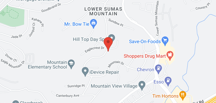 map of 2352 MOUNTAIN DRIVE