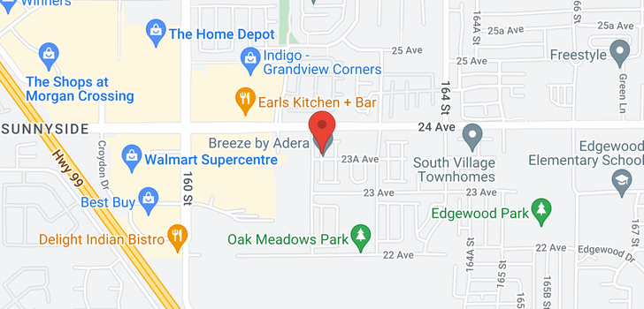 map of 42 16223 23A AVENUE