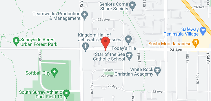 map of 24 14968 24 AVENUE