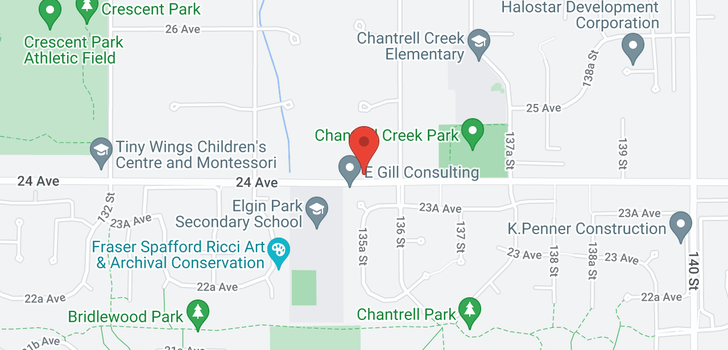 map of 13545 24 AVENUE