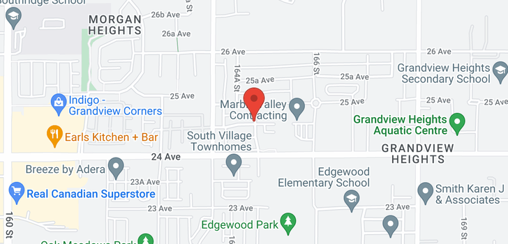 map of 22 16565 24A AVENUE