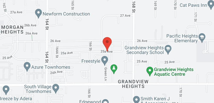 map of 16451 25A AVENUE