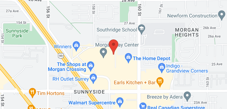 map of 341 15850 26 AVENUE