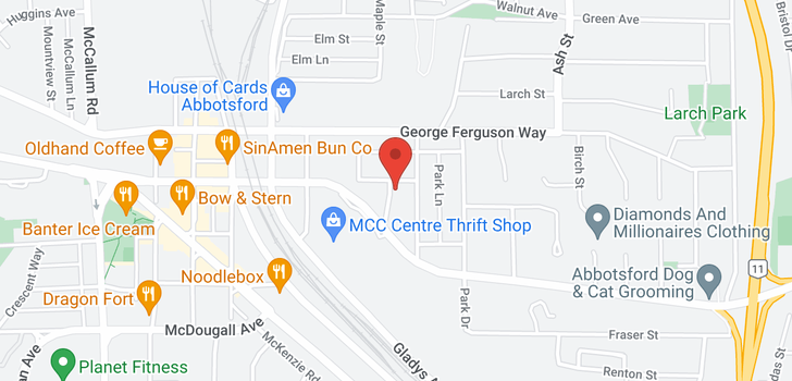 map of 124 2565 CAMPBELL AVENUE