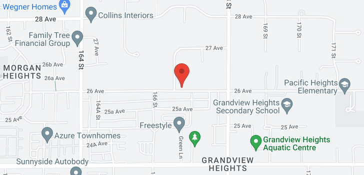 map of 2622 166A STREET