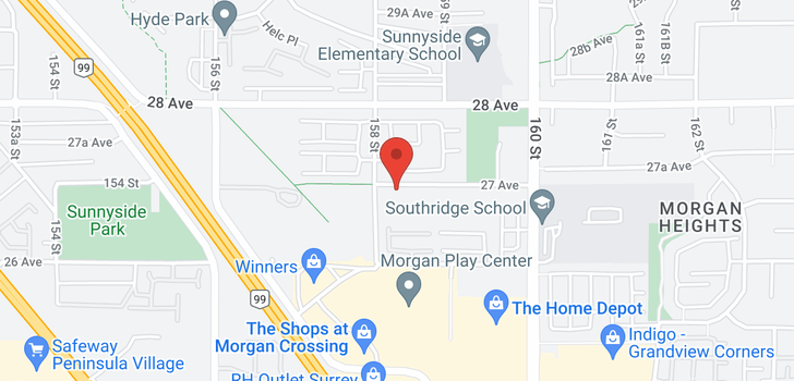 map of 43 15828 27 AVENUE