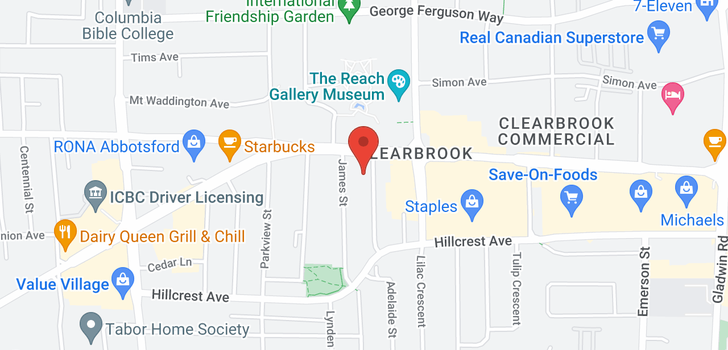 map of 1701 32330 SOUTH FRASER WAY