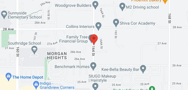 map of 2706 164 STREET