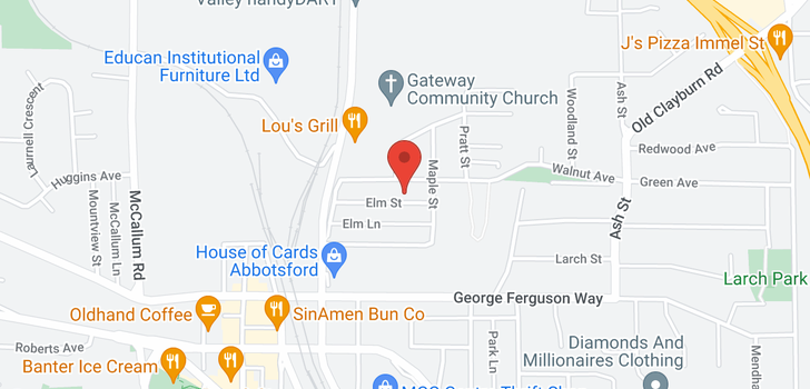 map of 33921 ELM STREET