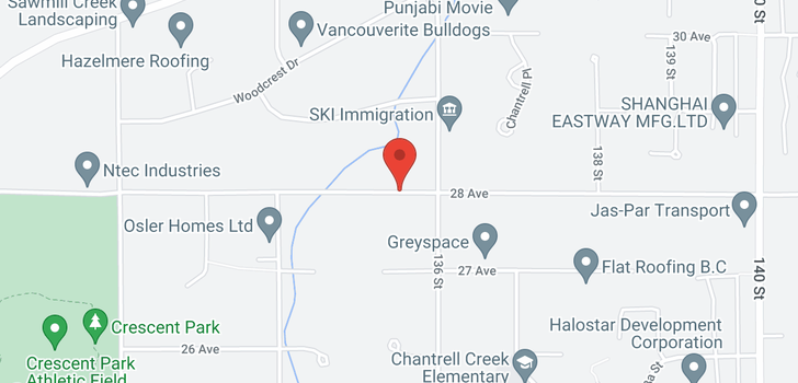 map of 13563 28 AVENUE
