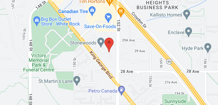 map of 307 15150 29A AVENUE