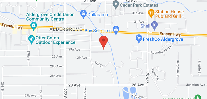 map of 27393 29A AVENUE