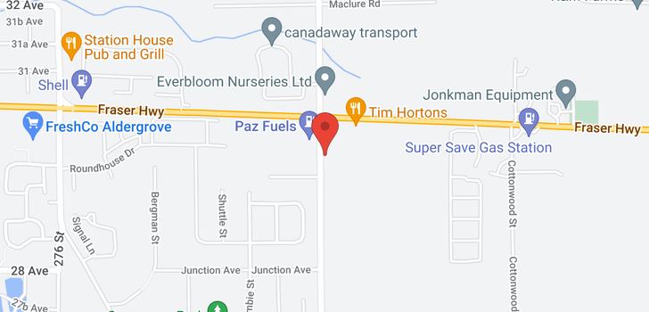 map of 23 2950 LEFEUVRE ROAD