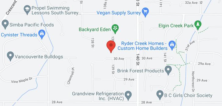 map of 3031 139 STREET
