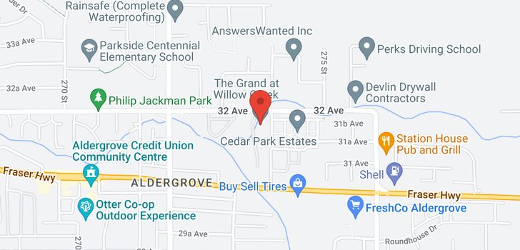 map of 264 27358 32 AVENUE