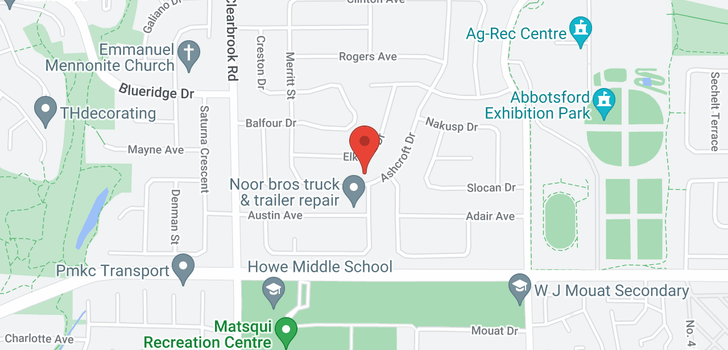 map of 32181 ASHCROFT DRIVE
