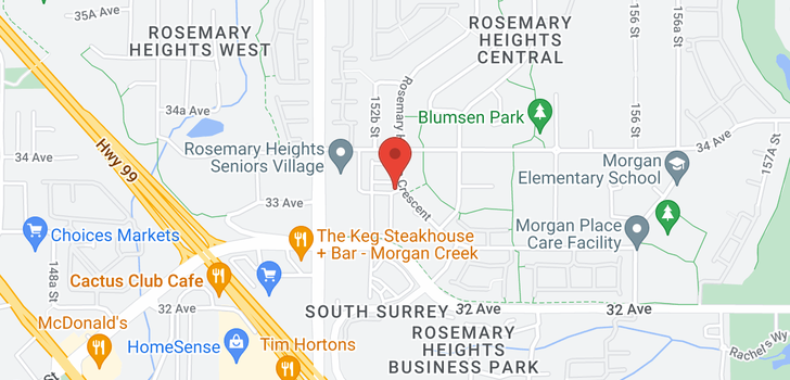 map of 30 3363 ROSEMARY HEIGHTS CRESCENT