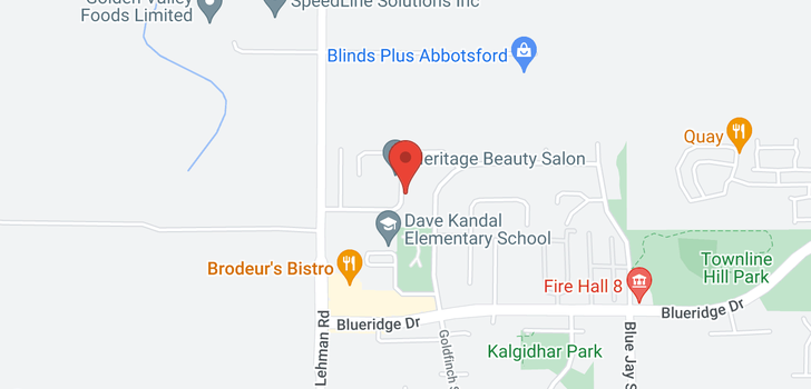 map of 3628 HERITAGE DRIVE