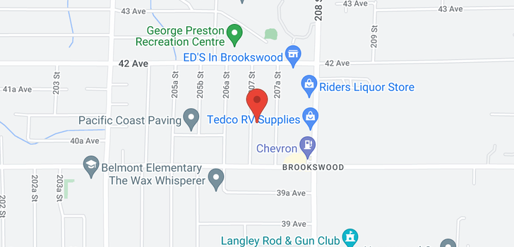 map of 4076 207 STREET
