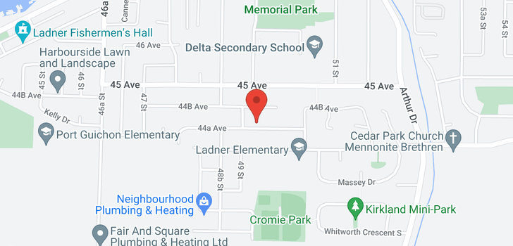 map of 4929 44A AVENUE