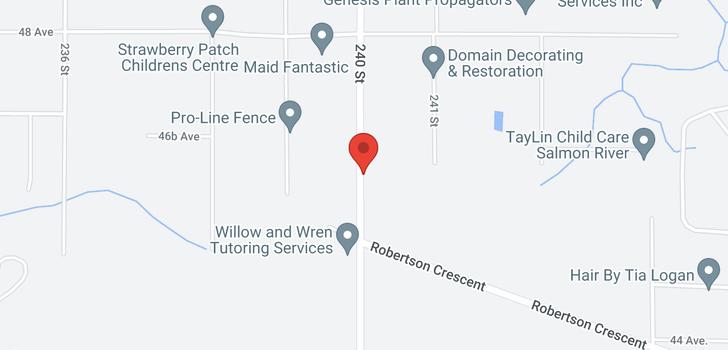 map of 4644 240 STREET