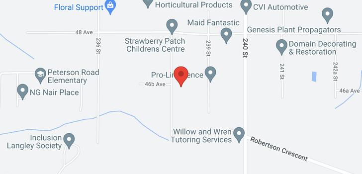 map of 4654 238 STREET