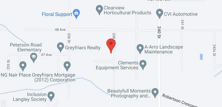 map of 4689 238 STREET