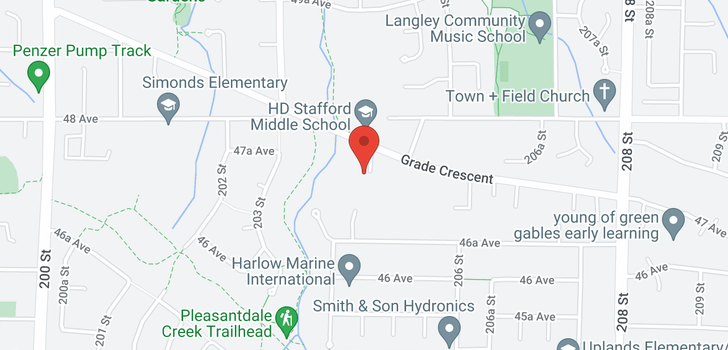 map of 4745 204A STREET