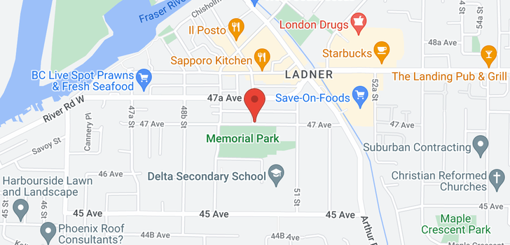 map of 305 4988 47A AVENUE