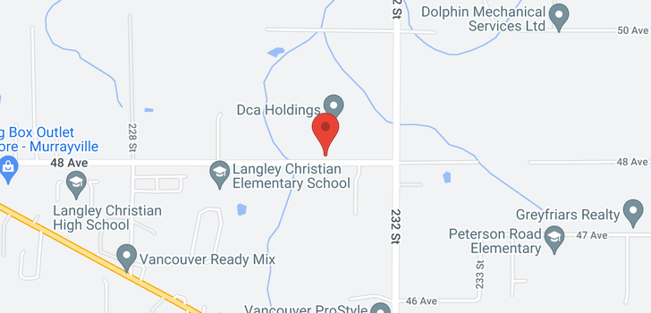 map of 23071 48 AVENUE