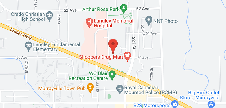 map of 411 5020 221A STREET