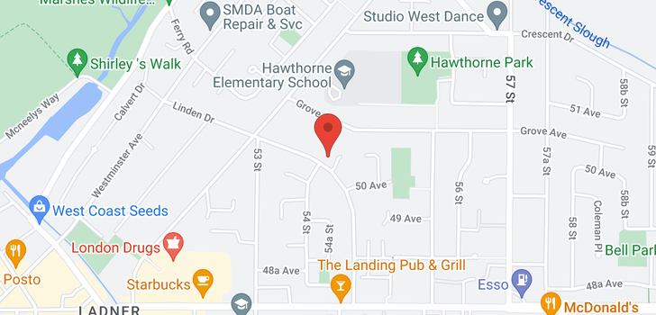 map of 5022 LINDEN DRIVE