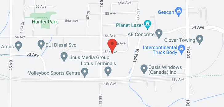 map of 5328 188A STREET