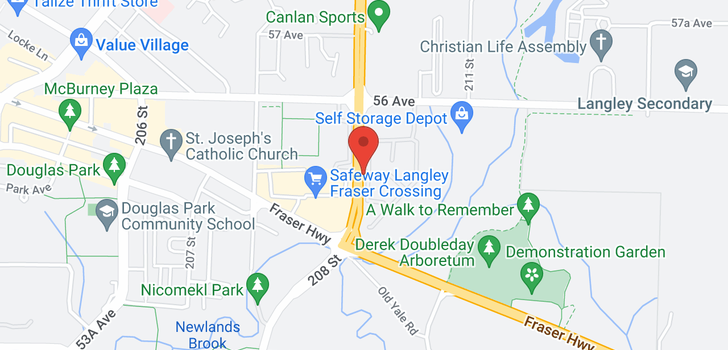 map of 75 5550 LANGLEY BYPASS