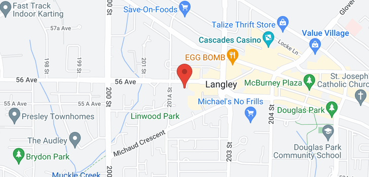 map of 418 20200 56 AVENUE