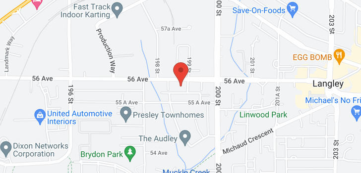 map of 106 19908 56 AVENUE