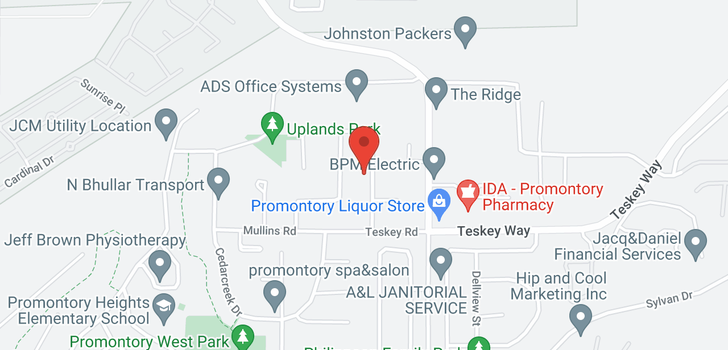 map of 5669 STONEHAVEN STREET
