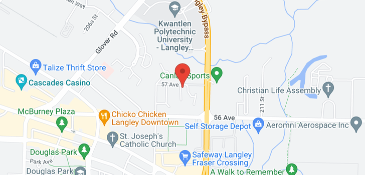 map of 28 20890 57 AVENUE