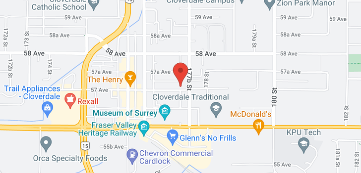 map of 203 17769 57 AVENUE
